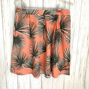 A New Day - Palm Leaves Skirt Peach/Pink Size: L